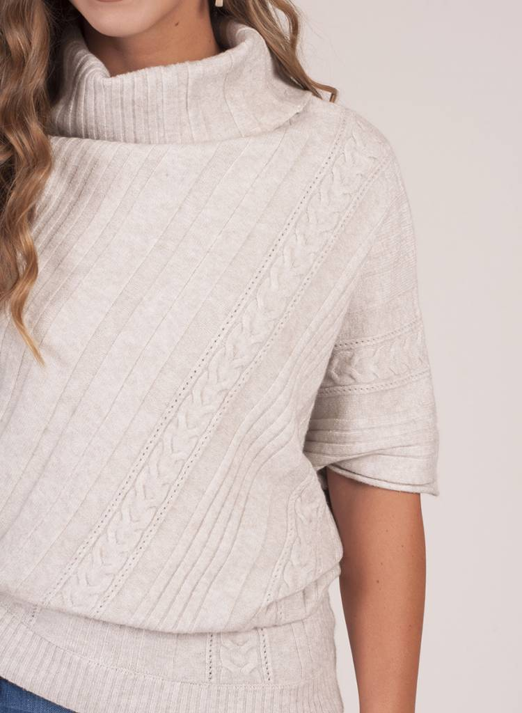 Tess Asymmetrical Poncho Sweater
