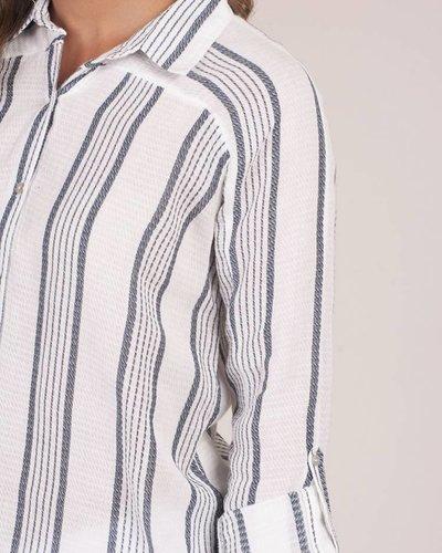 Pippa Striped Button Down Top