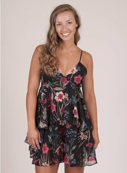 Myla Floral Layered Halter Dress