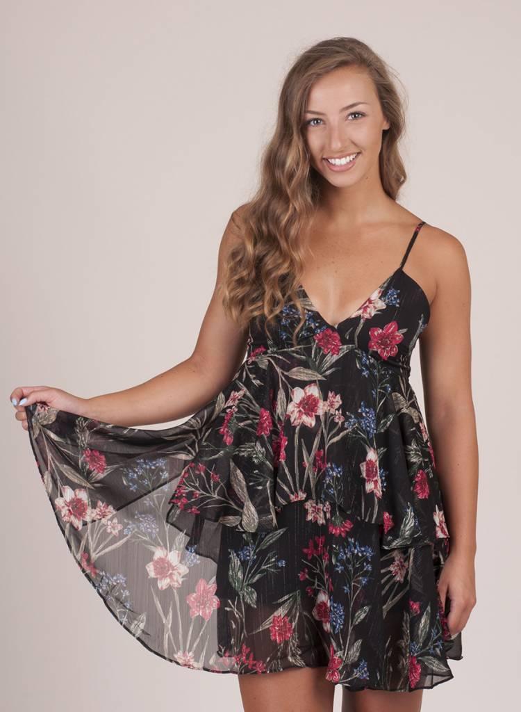 Myla Floral Layered Halter Dress