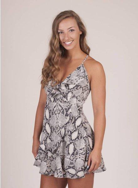 Raelyn Snake Ruffled Dress