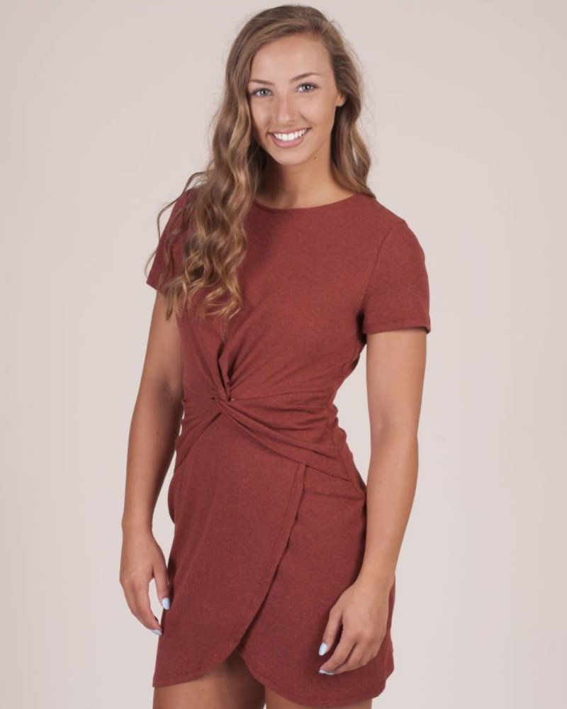 Sawyer S/S Front Knot Dress