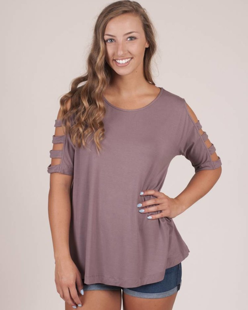 Joanna Ladder Cut Out Sleeve Top