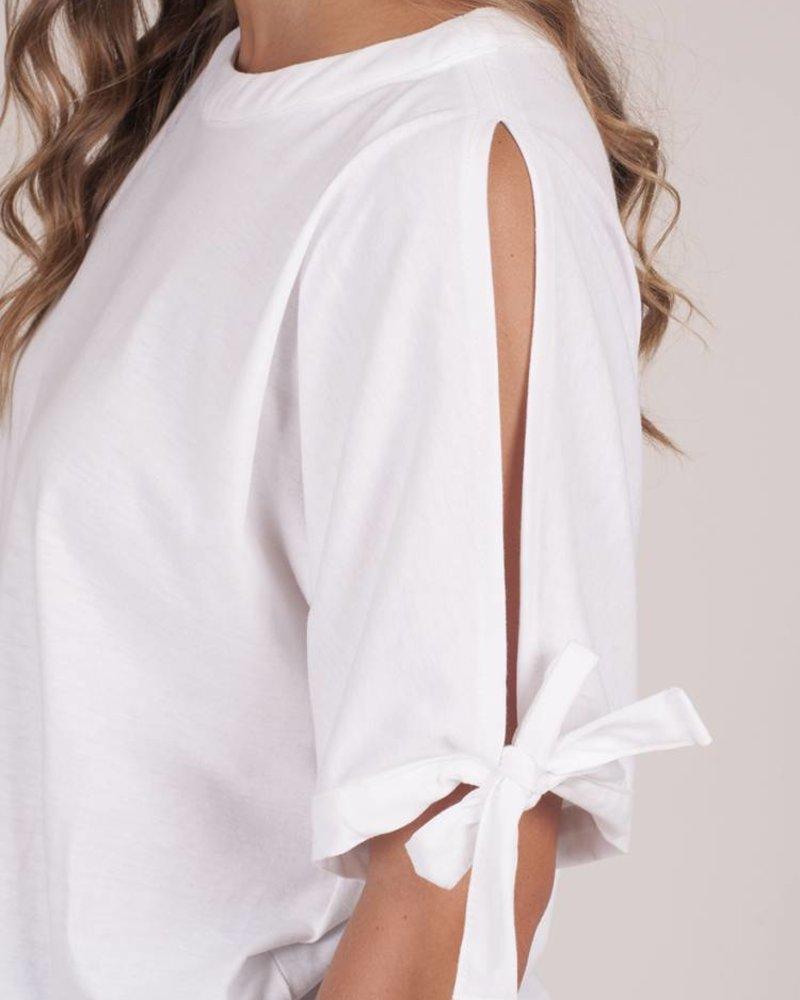 Malia S/S Tie Sleeve Top