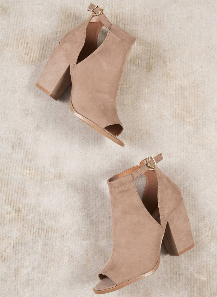 Maren Cutout Peep Toe Booties