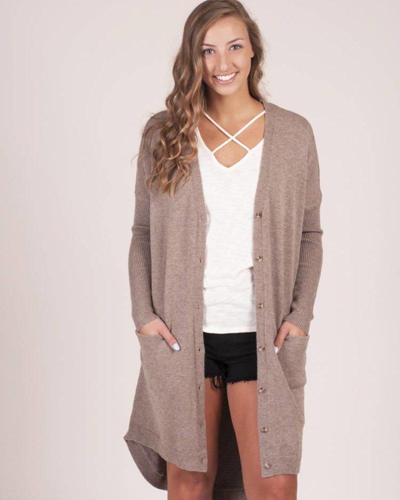 Miranda Knit Pocket Long Cardigan