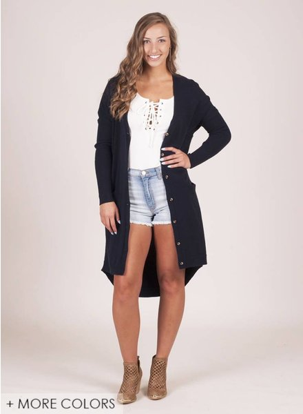 Miranda Knit Pocket Long Cardigan