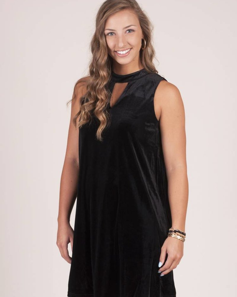 Sage Velvet Shift Dress