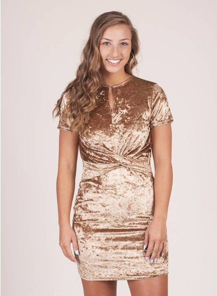 Ember S/S Velvet Bodycon Dress