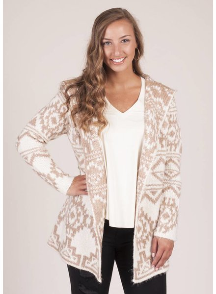 Kaylie Hooded Fuz Cardigan