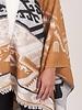 Lainey Stripe Fringed Poncho