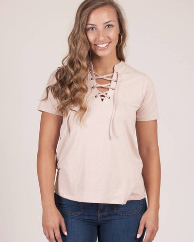Z Supply - The Suede Lace-Up Top