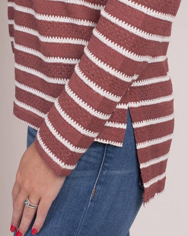 Cali Lace Up Knit Top