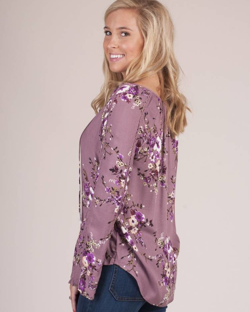 Sabrina Floral Bell Sleeve Top