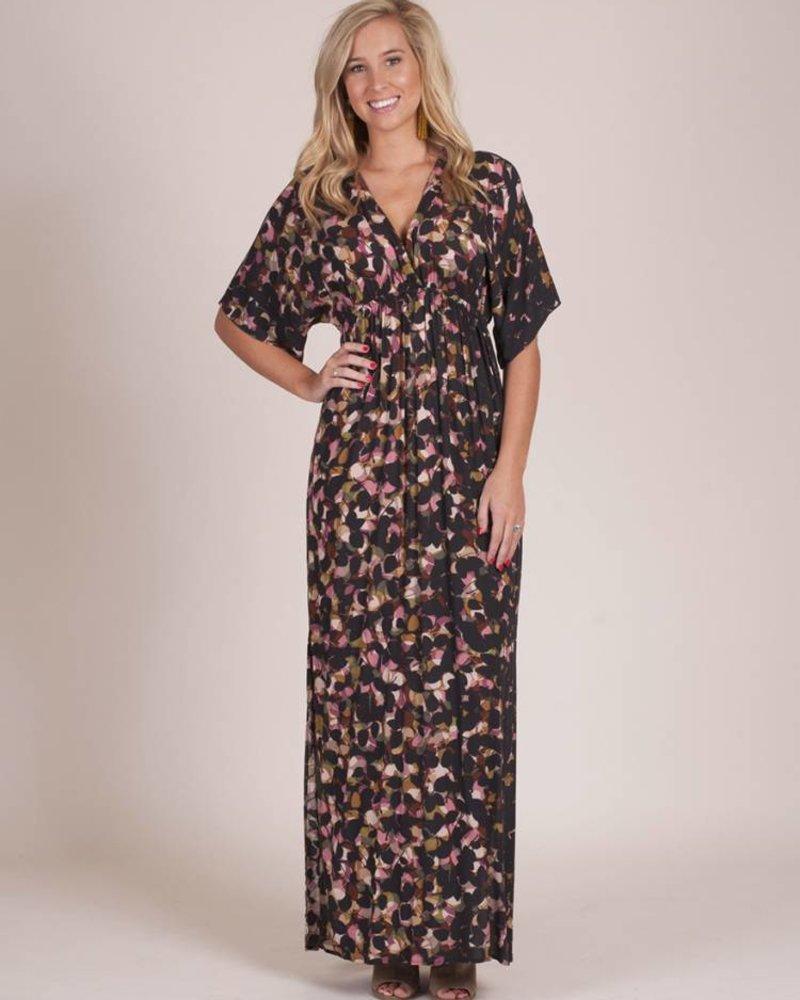 Hallie Printed Kimono Dress