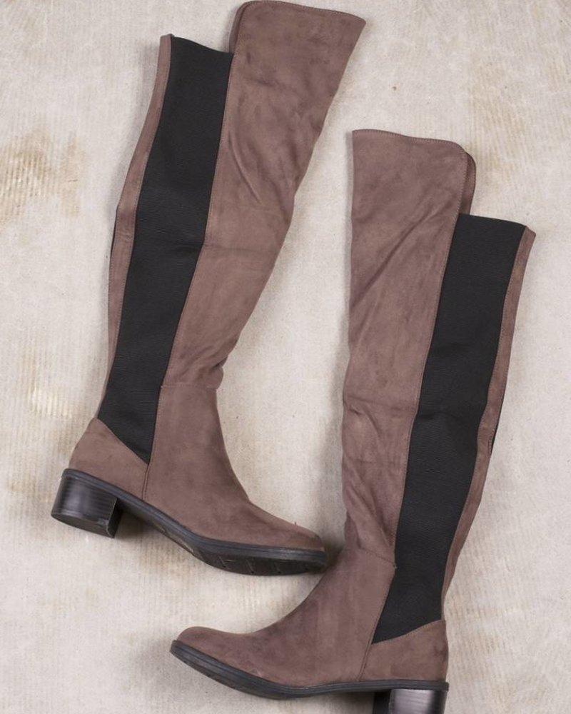 Scarlet OTK Boots