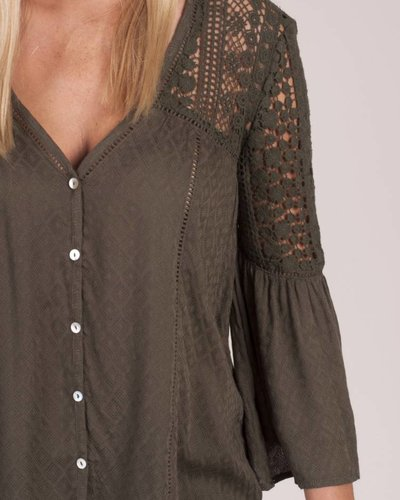Demi Crochet Lace Jacquard Top