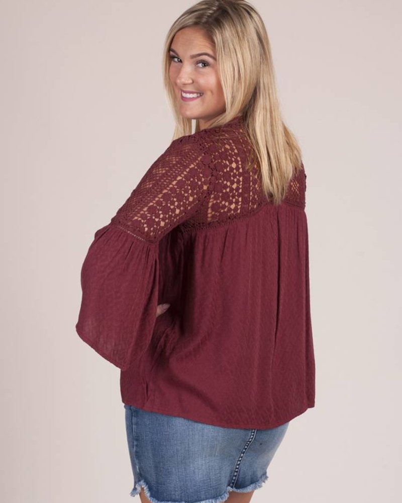 Demi Crochet Lace Jacquard Top