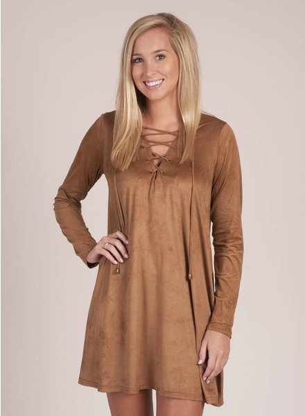 Brayden Faux Suede L/S Dress