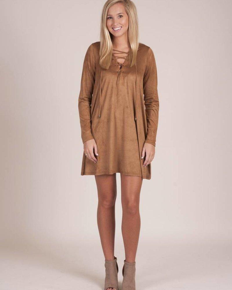 Brayden Faux Suede L/S Dress
