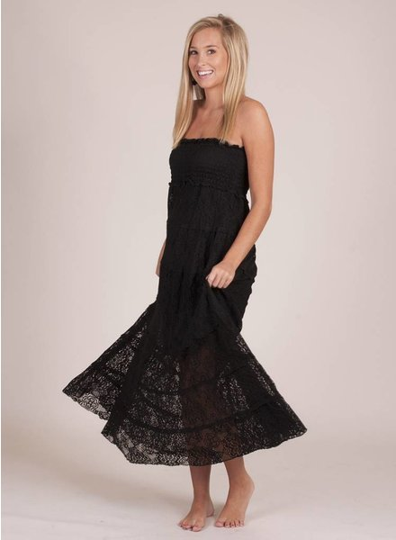Clarice Black Tube Top Maxi