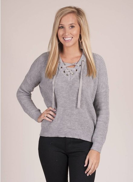 Jack by BB Dakota - Williard Lace-Up Sweater