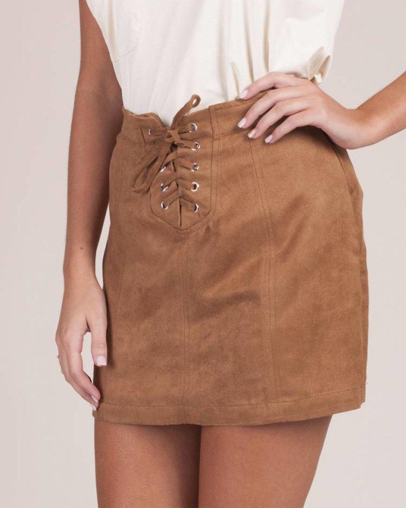 Jack by BB Dakota - Darling Lace-Up Skirt