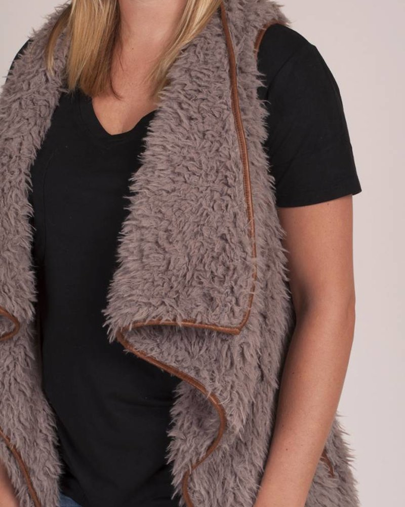 Axel Faux Fur Draped Vest