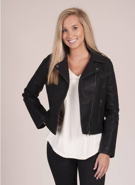 Jack by BB Dakota - Willis Rippled PU Moto Jacket