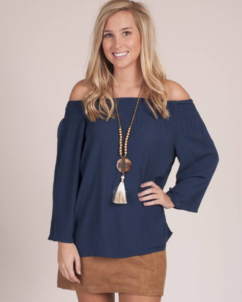Connor OTS 3/4 Bell Sleeve Top