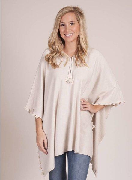 Elenora Hooded Sweater Poncho