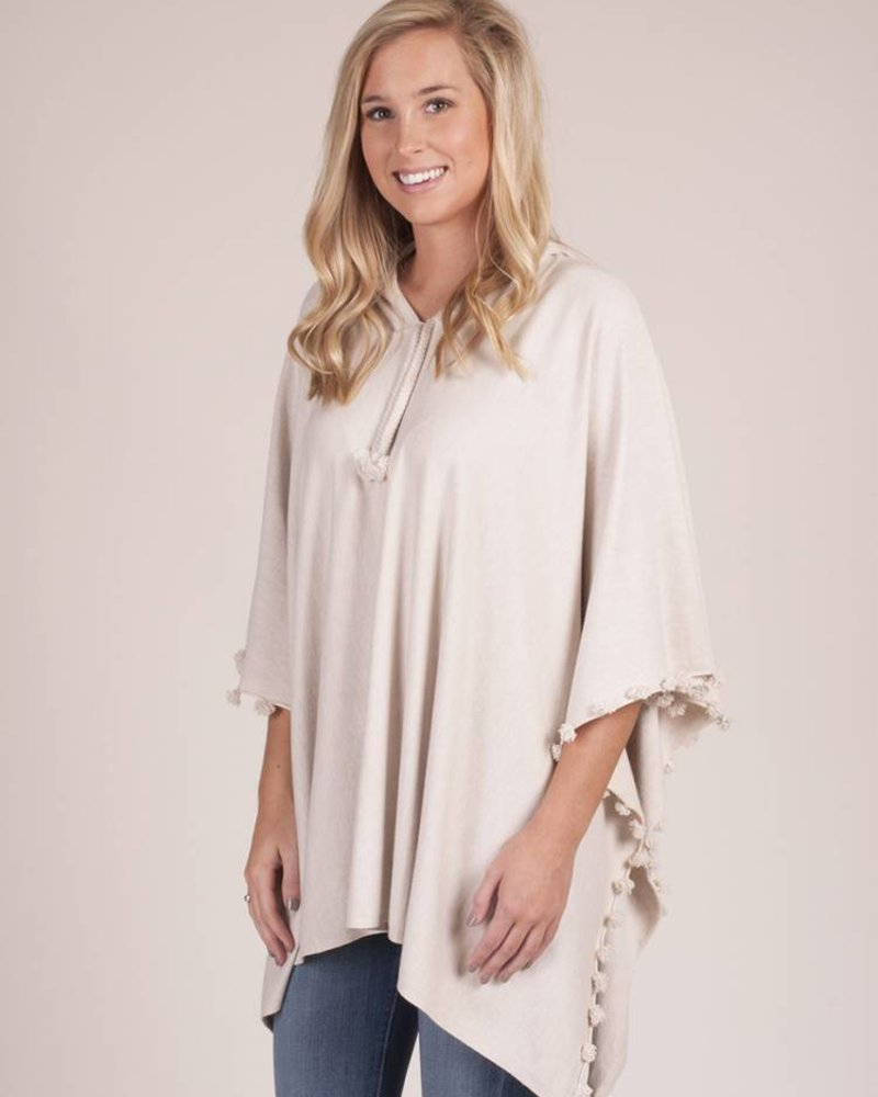 Elenora Hooded Sweater Poncho