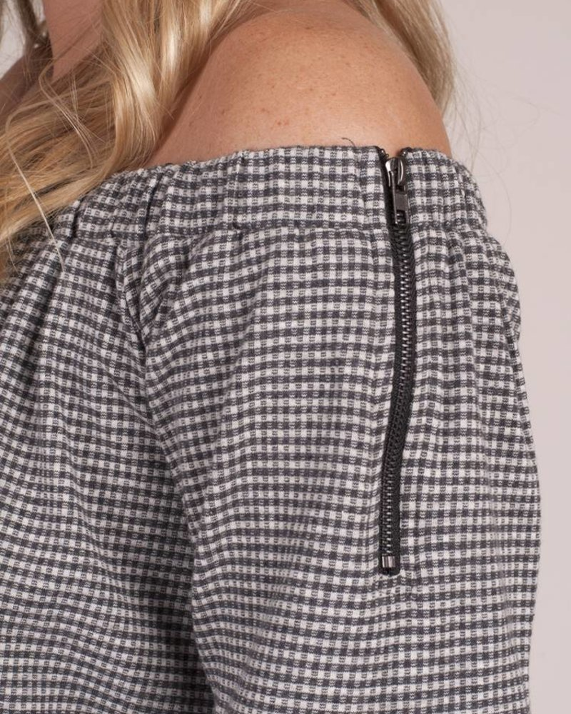 Gina OTS Gingham Top