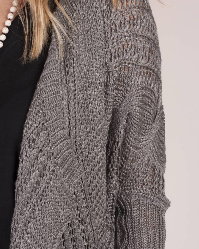 Appalachian Cable Knit Cocoon Cardigan