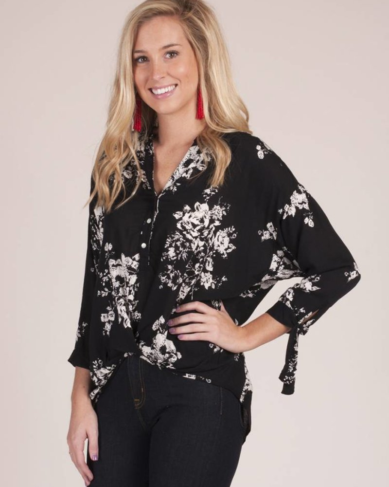 Arendell High Low Dolman Top