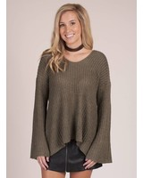Bristol VNeck Ribbed Sweater