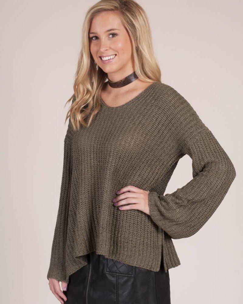 Bristol VNeck Ribbed Sweater