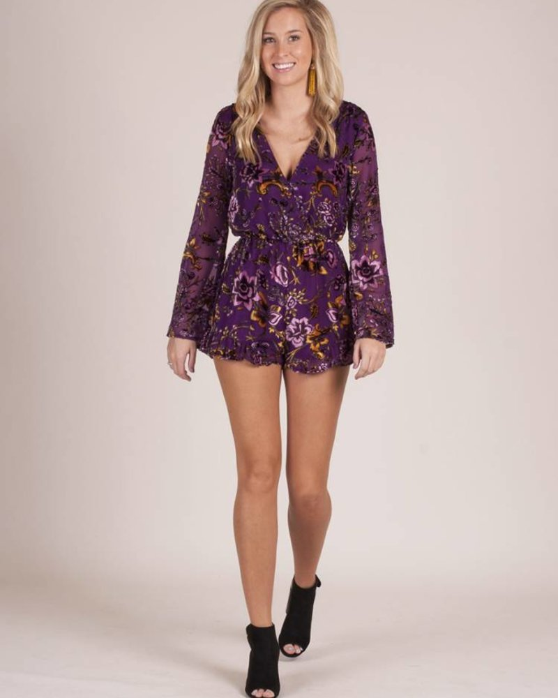 Gibson Floral Print L/S Romper
