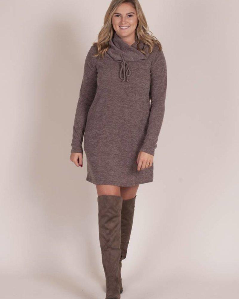 Henri Knit Cowl Neck Dress