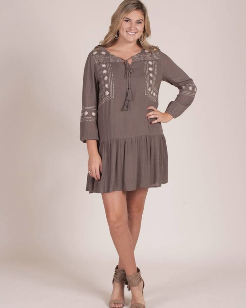 Layla Embroidered Tunic Dress