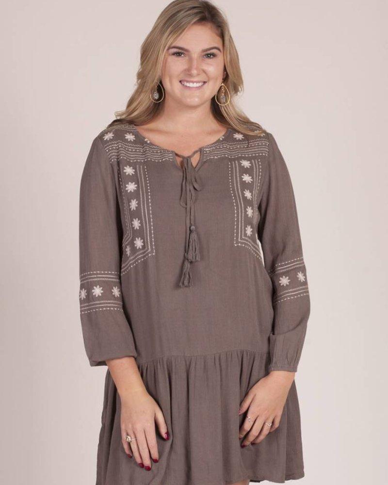 Layla Embroidered Tunic Dress
