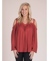 Brenna Cold Shoulder Cut Out Top
