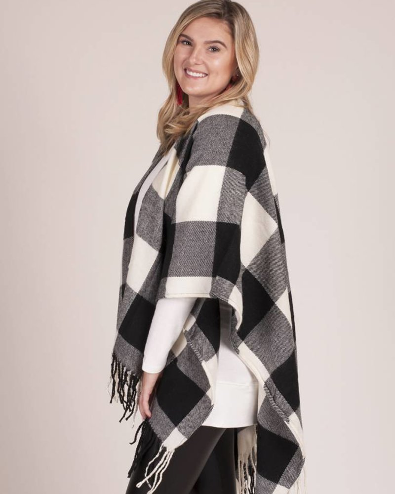 Buffalo Check Poncho