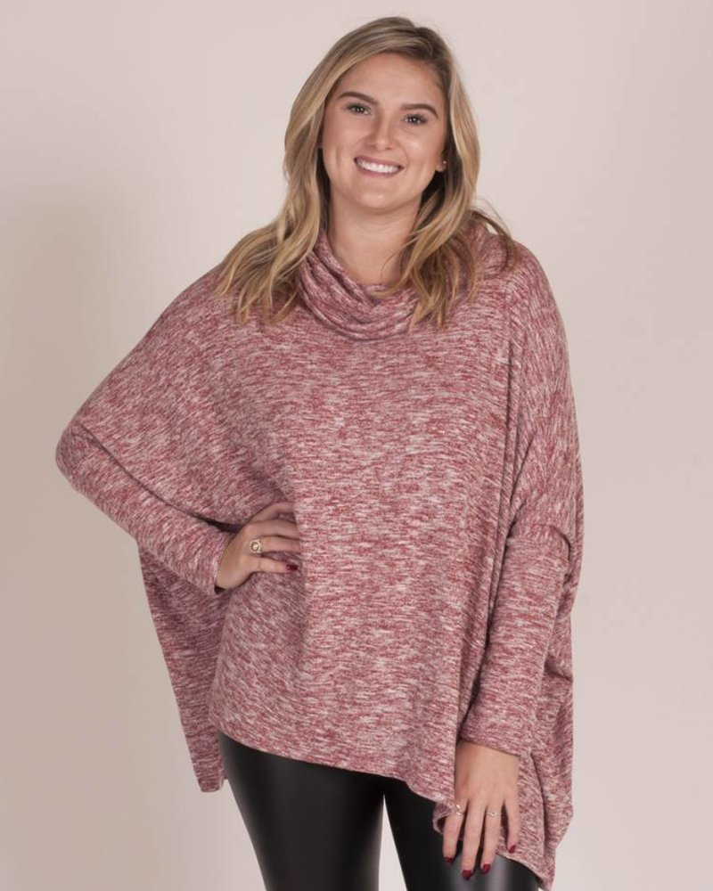 Downtown Cowl Neck Knit Top