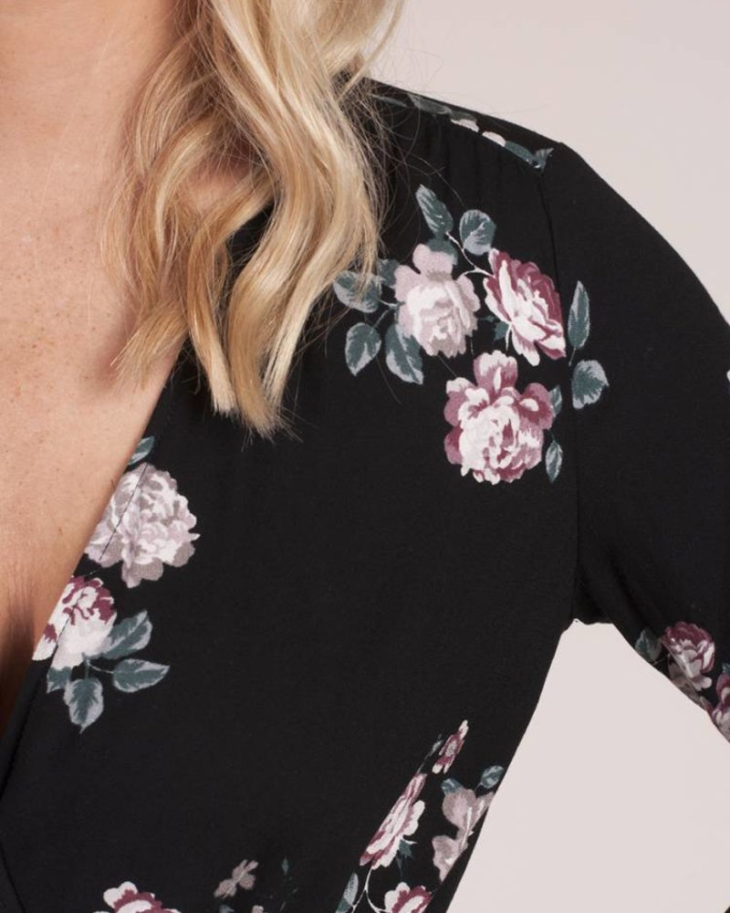 Mercy Printed Front Tie Top