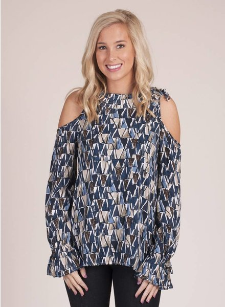 Rhodes Cold Shoulder Printed Top