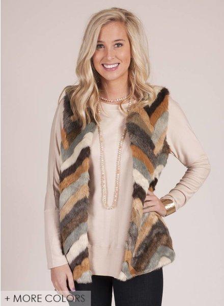 Twiggy Faux Fur Vest