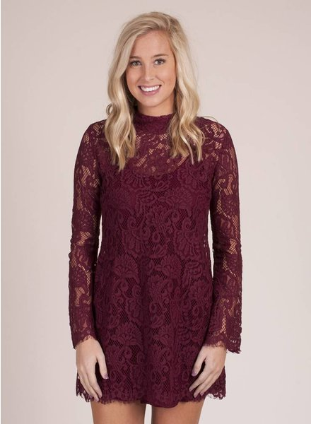 Ivy Crochet Overlay Dress