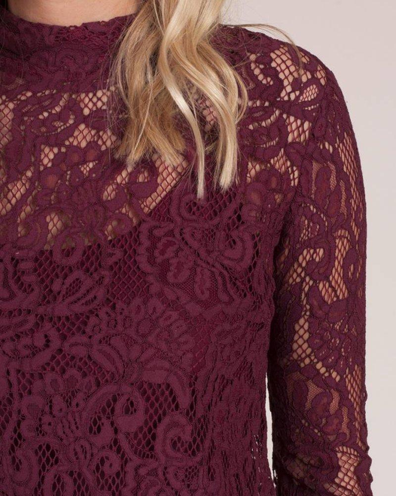 Ivy Crochet Overlay Dress