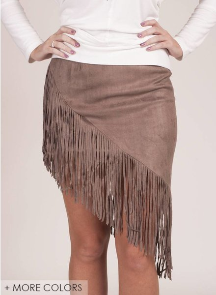 Lyric Fringed Suede Skirt